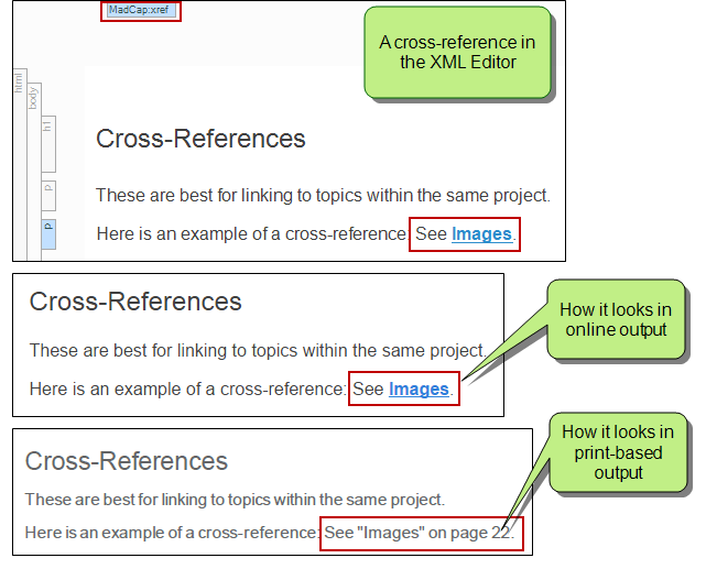 about cross references