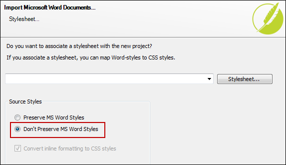 During The Process Of Importing Your Word Document Using Import Microsoft Wizard You Select Option To Not Preserve Styles