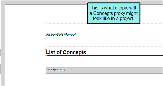 Creating a List of Concepts