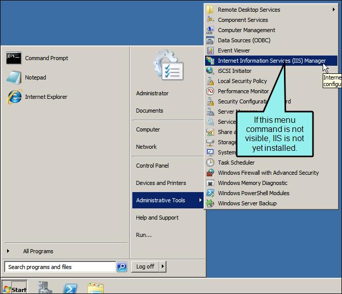 Installing the Prerequisites for Windows Server 2008