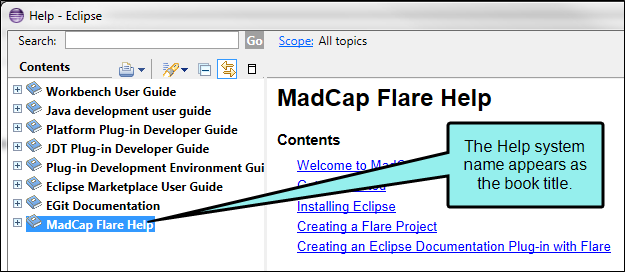 Eclipse Help Viewer